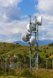 Small telecommunication tower Royalty Free Stock Photo