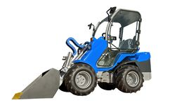 Small  telescopic handler. Isolated on a white background royalty free stock images