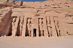 The Small Temple of Abu Simbel Stock Photography