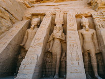 The small temple at Abu Simbel Royalty Free Stock Images