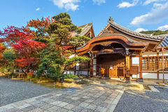 Small temple at Chion-in complex in Kyoto Royalty Free Stock Images