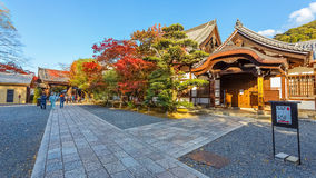 Small temple at Chion-in complex in Kyoto Royalty Free Stock Photo