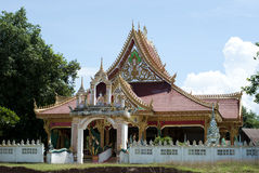 Small temple in a countryside village of Laos Royalty Free Stock Image