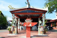 Small temple at the entrance of the Chew Jetty, Penang Stock Image