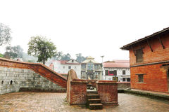 Small temple in front of the main entrance of the Pashupatinath temple Stock Photos