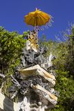 small temple for good spirits,with yellow parasol, Nusa Penida, Indonesia Stock Photography
