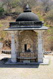 Small temple in the grounds of the  Jain Temple of Ranakpur. The renowned Jain temple at Ranakpur is dedicated to Tirthankara Adinatha Stock Images