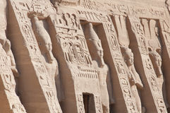 Small Temple of Hathor and Nefertari exterior statues of Ramesse Royalty Free Stock Photos