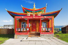 Small temple in the Ivolginsky Datsan Royalty Free Stock Images