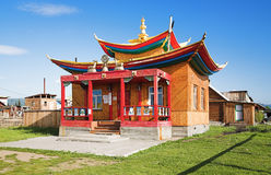 Small temple in the Ivolginsky Datsan Royalty Free Stock Photo