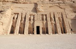 The Small Temple of Nefertari. Abu Simbel, Egypt. Royalty Free Stock Image