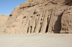The Small Temple of Nefertari. Abu Simbel, Egypt. Royalty Free Stock Photos