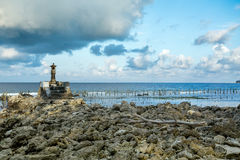 Small temple on the shore by the sea Royalty Free Stock Photography
