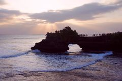 The small temple at Tanah Lot Royalty Free Stock Images