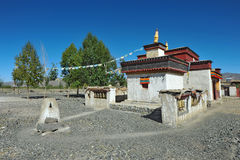 Small temple in Tibet Royalty Free Stock Images