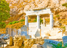The small temple under Acropolis Royalty Free Stock Photos