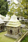 Small temples near Pashupatinath Temple, nepal Royalty Free Stock Image