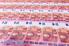 Small ten euro banknotes Royalty Free Stock Photography