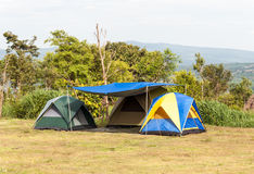 Small tent group Royalty Free Stock Photo