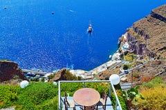 Santorini island Old port terrace Greece Royalty Free Stock Images