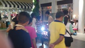 Small thai trade fair,bangpree samutprakarn thailand. Movie shoot in 4K stock video
