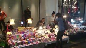 Small thai trade fair, bangpree samutprakarn thailand. Movie shoot in 4K stock footage