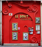 A small theater in Paris royalty free stock photography