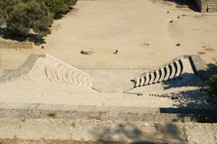 Small theatre near Apollo Temple at the Acropolis of Rhodes Stock Image