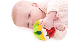 Small thoughtful baby Stock Photo