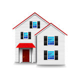 Small three-storey house isolated on white vector. Small three-storey house isolated photo-realistic vector illustration vector illustration