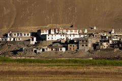 Small Tibetan Village At Himalaya Mountains Stock Photos