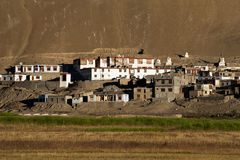 Small Tibetan village at Himalaya mountains Stock Photos