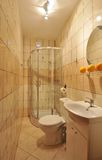 Small tiled bathroom Stock Photo