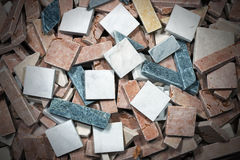 Small Tiles of Italian Marble Royalty Free Stock Image