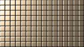Small tiles wall golden background Stock Photos