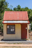 Small Timber Train House. Disused timber office on an old rail line used to transport grain Stock Image