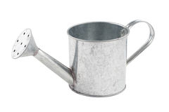 Small tin watering can isolated Stock Photo