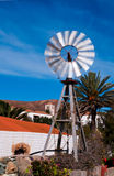Small tin windmill in Betankuria, Fuerteventura Royalty Free Stock Images
