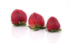 Small to large strawberries. Stock Photos