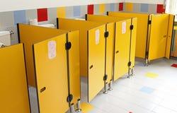 Small toilet doors of a nursery stock photo