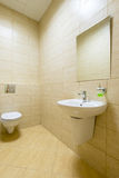 Small toilet in a public building Stock Image