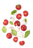 Small tomatoes and cheese Royalty Free Stock Images