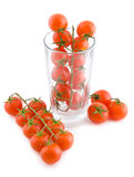 Small tomatoes in a glass Royalty Free Stock Image