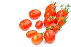 Small tomatoes, isolated Stock Photography