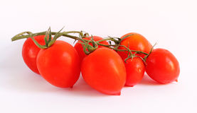 Small chery  tomatoes isolated on white Stock Image