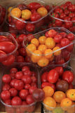 Small tomatoes at a market Royalty Free Stock Photography