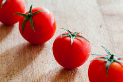 Small tomatoes in a row Stock Images