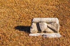 Small tombstone closeup on Oakland Cemetery, Atlanta, USA Stock Photography