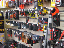Small tools in a store. Stock Image