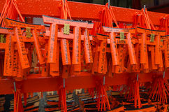 Small torii in Fushimi Inari Shrine, Kyoto, Japan Stock Photo